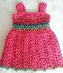 Completed Baby Dress Pattern