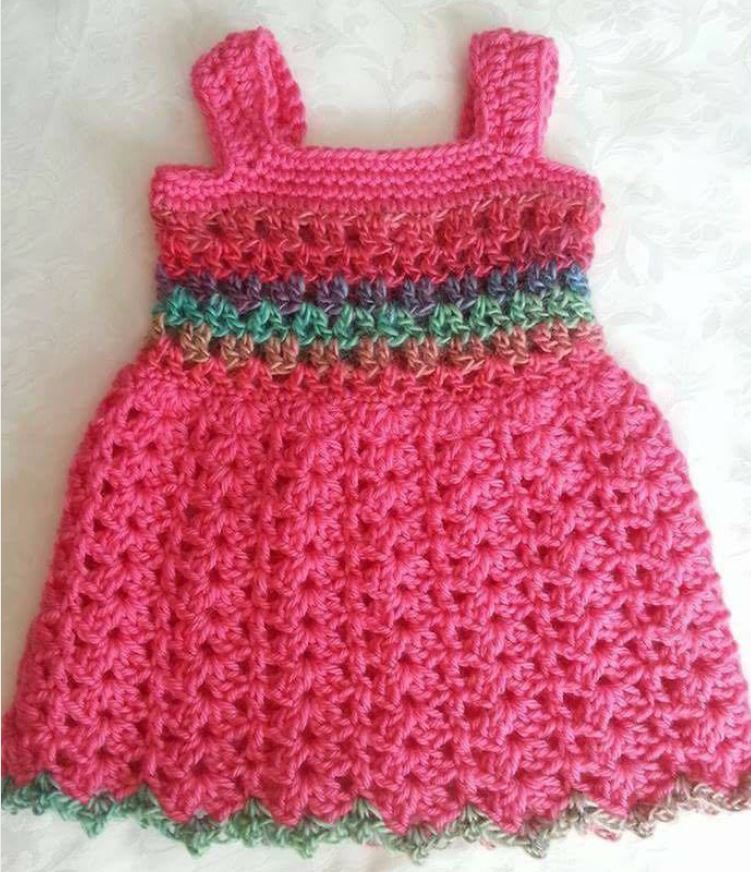 Easy Baby Dress Crochet Pattern Italian Sisters