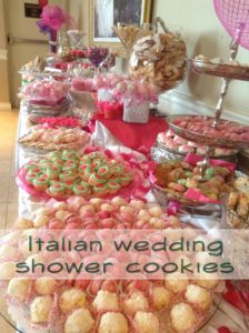 Italian Bridal Shower Cookies